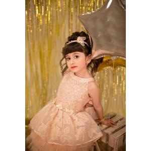 shimmer and shine peach dress